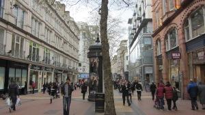 les rues de Birmingham