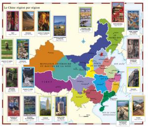 Les régions sont divisées en catégories dans le livre